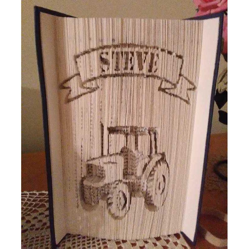 patron d coup 39 pliage tracteur pr nom steve. Black Bedroom Furniture Sets. Home Design Ideas