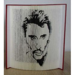 Portrait of Johnny Hallyday book folding