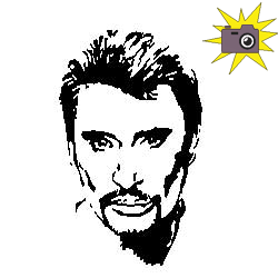 Pliage de livre portrait Johnny Hallyday