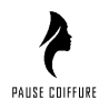 Pause coiffure logo book folding