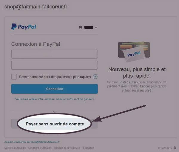 Payer avec une carte bleue via PayPal (1)